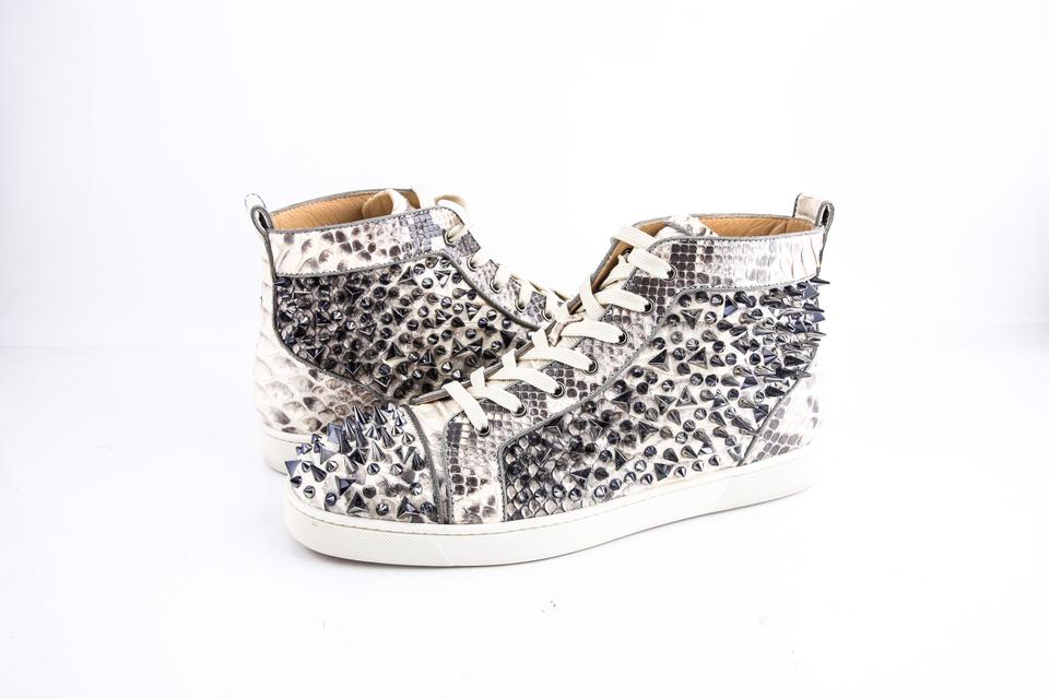 timeless design 71c75 ca685 Christian Louboutin Louis Pik Pik Orlato Flat Black-white Python Shoes 44%  off retail
