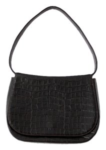 Bally Crocodile Embossed Shoulder Bag