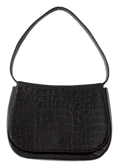 Bally Purse Crocodile Embossed Shoulder Bag