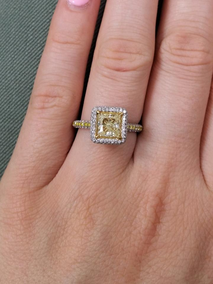 6201d9a25912c Gia Certified 1.16cts Princes Cut Fancy Yellow Diamond Engagement Ring 41%  off retail