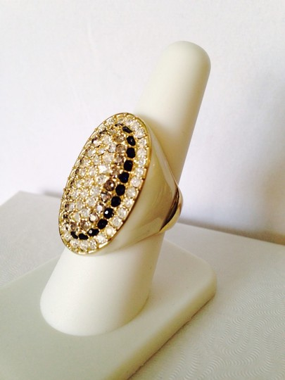 Other NWOT White Enamel With Tri-Color Crystals Ring, Size 8