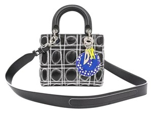 Dior Lady Art Lady Tote in black white pink green blue