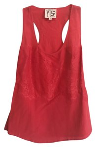 Gemma Racer-back Silk Top Coral