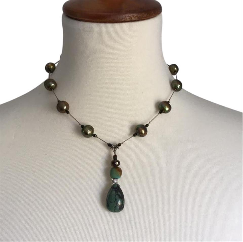 stone green necklace jewelry je