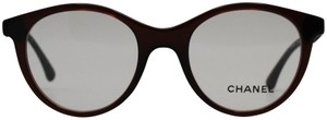Chanel Bordeaux Vendome Round Beaded Eyeglasses