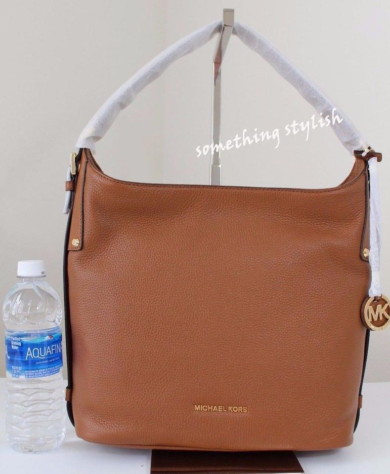 1a3760f2ea90 ... Michael Kors Bedford Belted Large Hobo LuggageGold Leather Shoulder Bag  - Tradesy ...