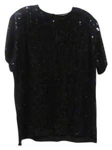 Diane Gilman Sequin Top Black