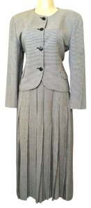Dior Christian Dior The Suit Skirt Jacket Blazer 2 pc Pleated Houndstooth B