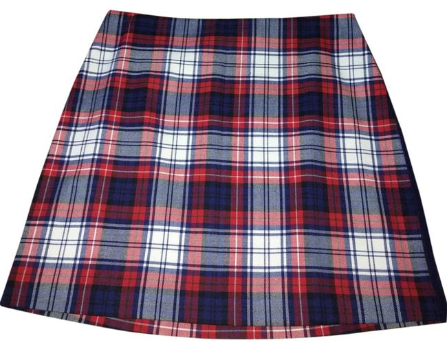 Item - Red White Blue Plaid Skirt Size 6 (S, 28)