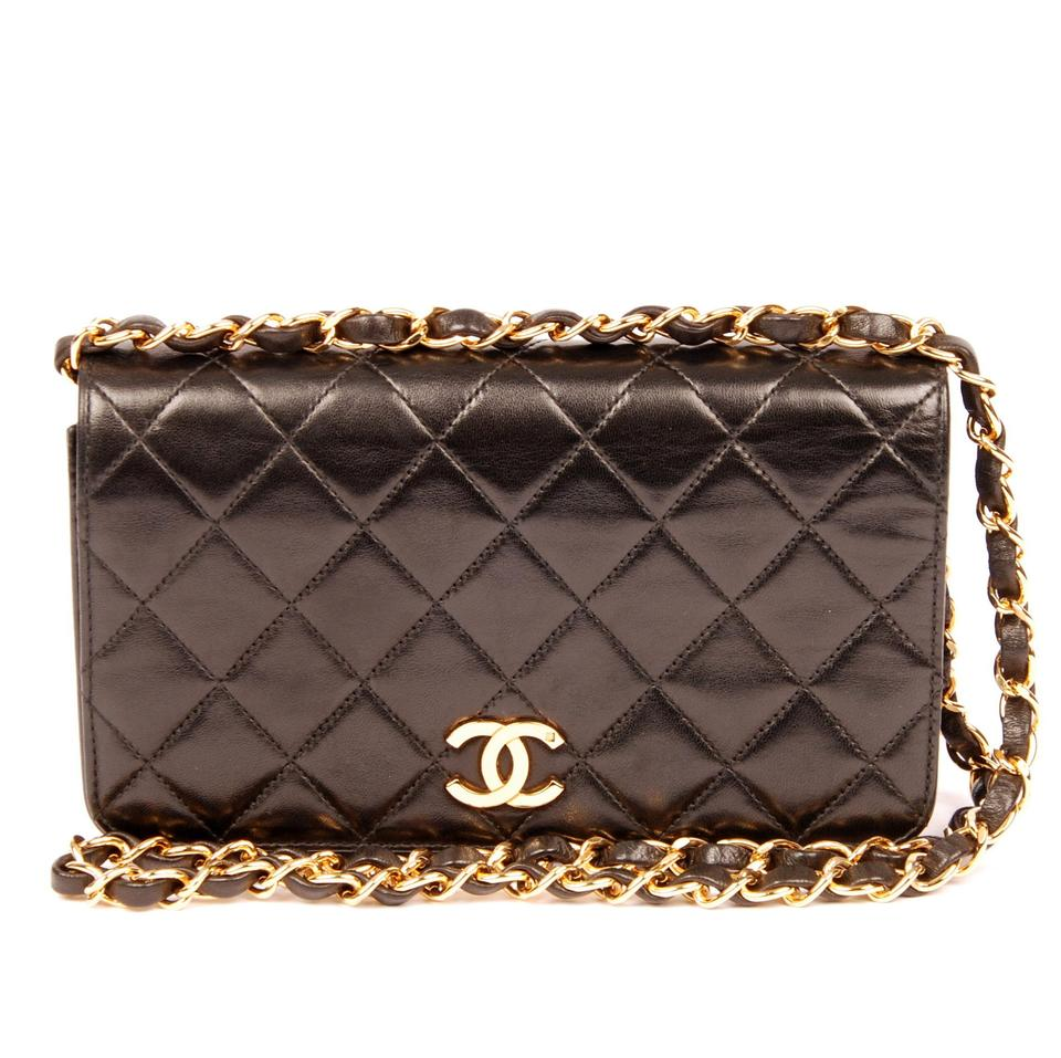 3ef5c3a10c Chanel Classic Flap Quilted 5393 Black Lambskin Leather Shoulder Bag ...