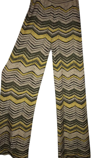 Item - Green/Gold Multi Tres Chic Green/Gold Woven Pants Size 2 (XS, 26)