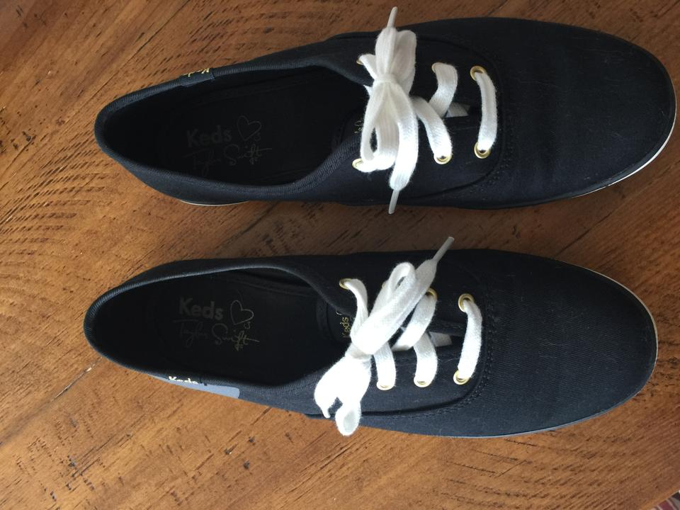 fa70f527cb1 Keds Black with Gray Taylor Swift Champion Sneaky Cat Sneakers Size ...