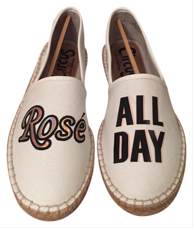 79827ff04 Circus by Sam Edelman White Rose All Day Canvas Espadrilles Flats ...