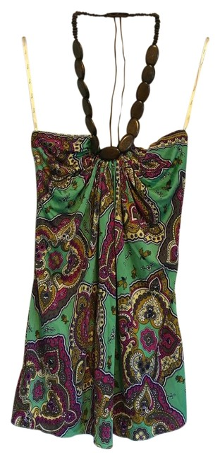 Item - Green Print Style# 3950x0 Halter Top Size 4 (S)