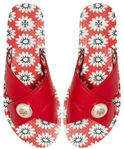 Tory Burch Melody Flip Flop Slide Beach red Sandals