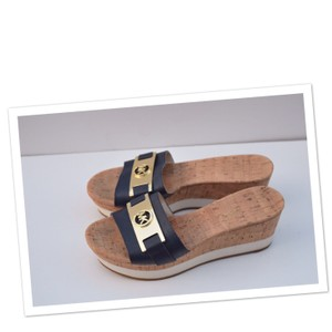 Michael Kors navy/cork Wedges