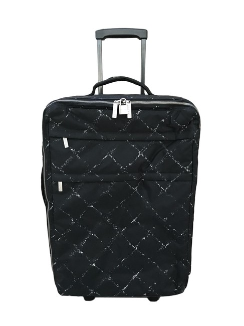 Item - W W/ White Quilt Carry-on Suitcase Luggage Black Canvas Weekend/Travel Bag