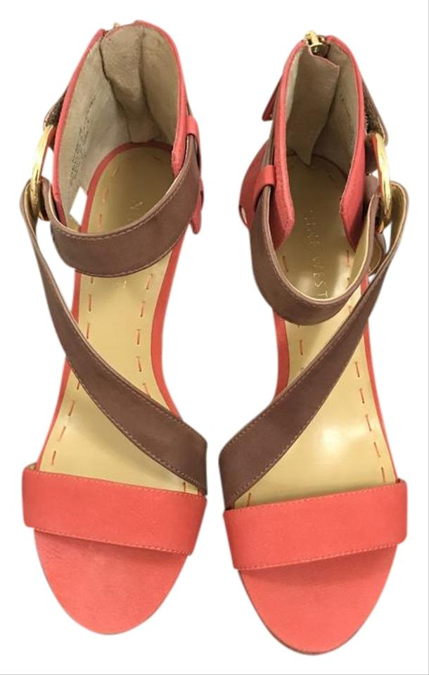 Nine West Coral/Brown Coral/Brown West Coral/Brown Sandals Wedges f7ab64