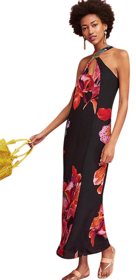 053ff70ac1628 Anthropologie Silk Cayman By Maeve S Long Casual Maxi Dress Size 6 ...