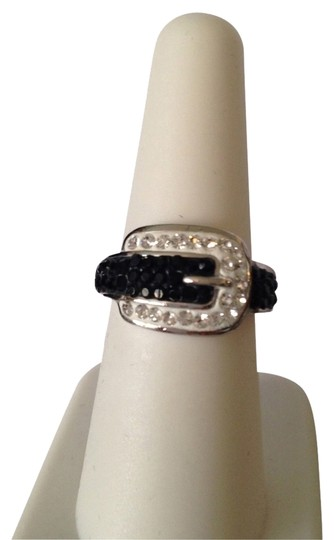 Preload https://img-static.tradesy.com/item/2222152/blacksilver-nwot-buckle-with-and-clear-swarovski-crystals-ring-size-7-0-0-540-540.jpg