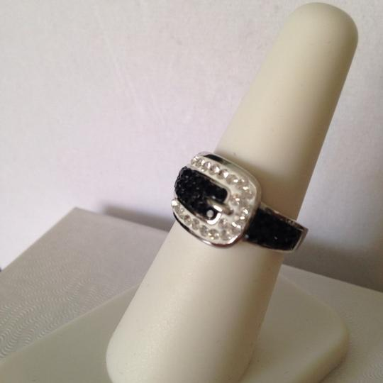 Other NWOT Buckle With Black & Clear Swarovski Crystals Ring, Size 7