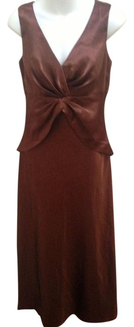 Item - Brown Special Occasion Maxi Shawl Long Formal Dress Size 8 (M)