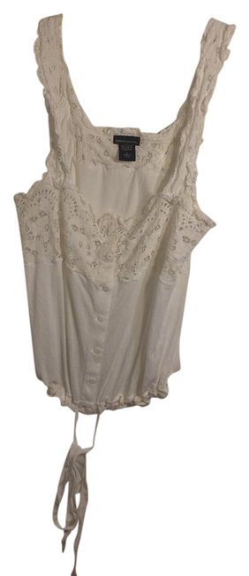 Item - White Embroidered Tank Blouse Size 12 (L)
