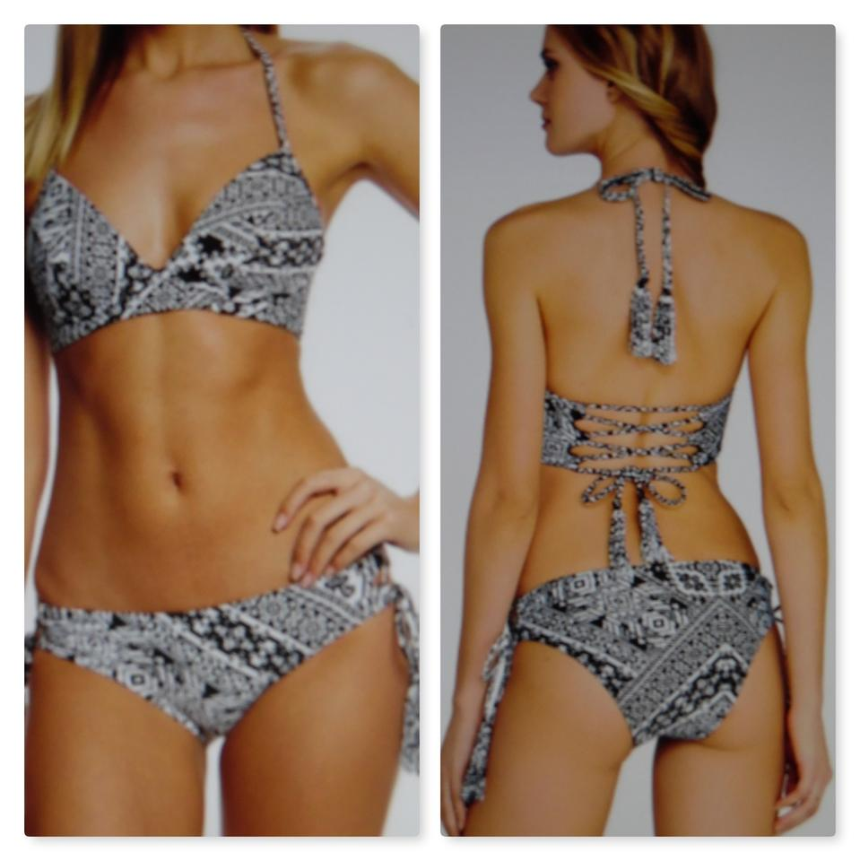 a4b96abf24357 Coco Rave Coco Rave Playa It Cool Lace Up Halter Top&Bottom Swim 2 Pc Set~  ...