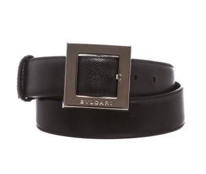 BVLGARI Bvlgari Black Leather Belt