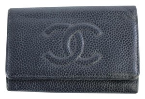CHANEL Keychain Key Key Case Key Pouch Key Wallet Black Clutch
