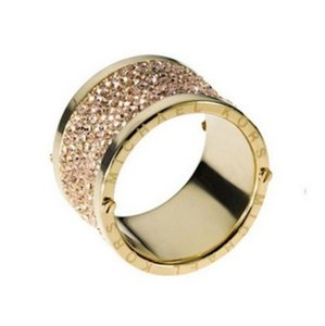 Michael Kors Michael Kors Gold Pave Thick Barrel Ring Paave Size 7