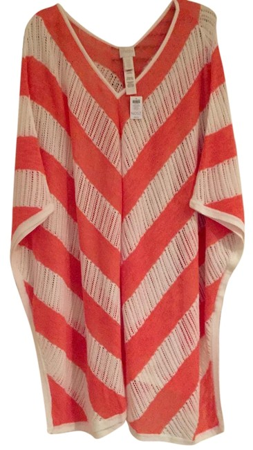Item - White/Coral Stripes Unica Tunic Size OS (one size)