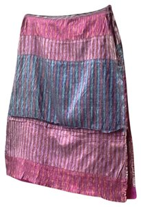 dosa Skirt multi - lavender, teal, bronze