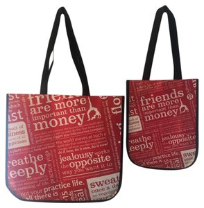 Lululemon Reusable Large Shopping Tote in Red Black