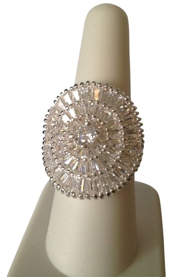 Other NWOT Large Statement Cubic Zirconia Baguette Ring, Size 8