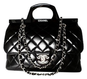 35193f83db93f6 Chanel Box Dust Cover Card Store Receipt Copy Care Booklet Shoulder Bag.  Chanel Small Cc Delivery Tote Quilted Glazed Black Calfskin ...