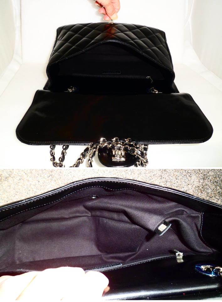 e786ce2f6ca6d1 Chanel Small Cc Delivery Tote Quilted Glazed Black Calfskin Leather ...