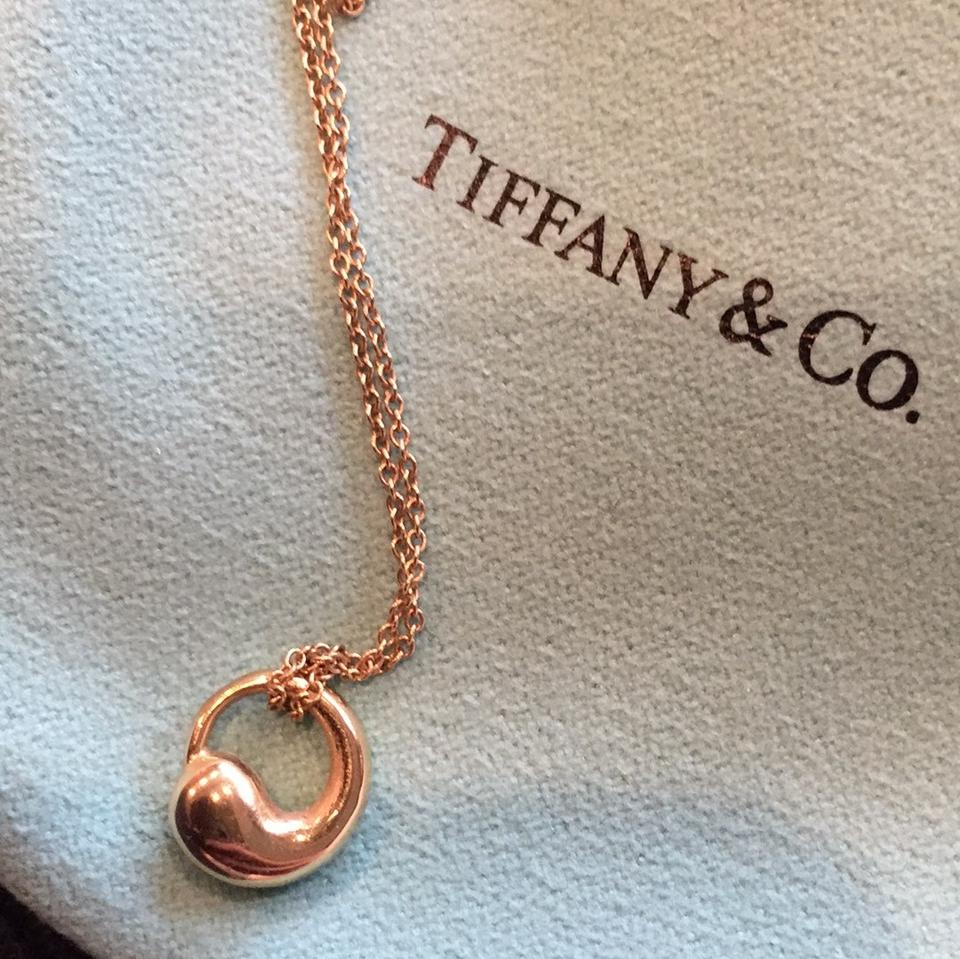 Tiffany co gold 18kt peretti eternal circle pendant necklace 18kt gold peretti eternal circle pendant 1234567891011 mozeypictures
