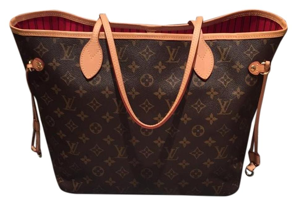 ae0649cbe928 Louis Vuitton Neverfull Mm with Cerise Lining and Pouch Monogram ...