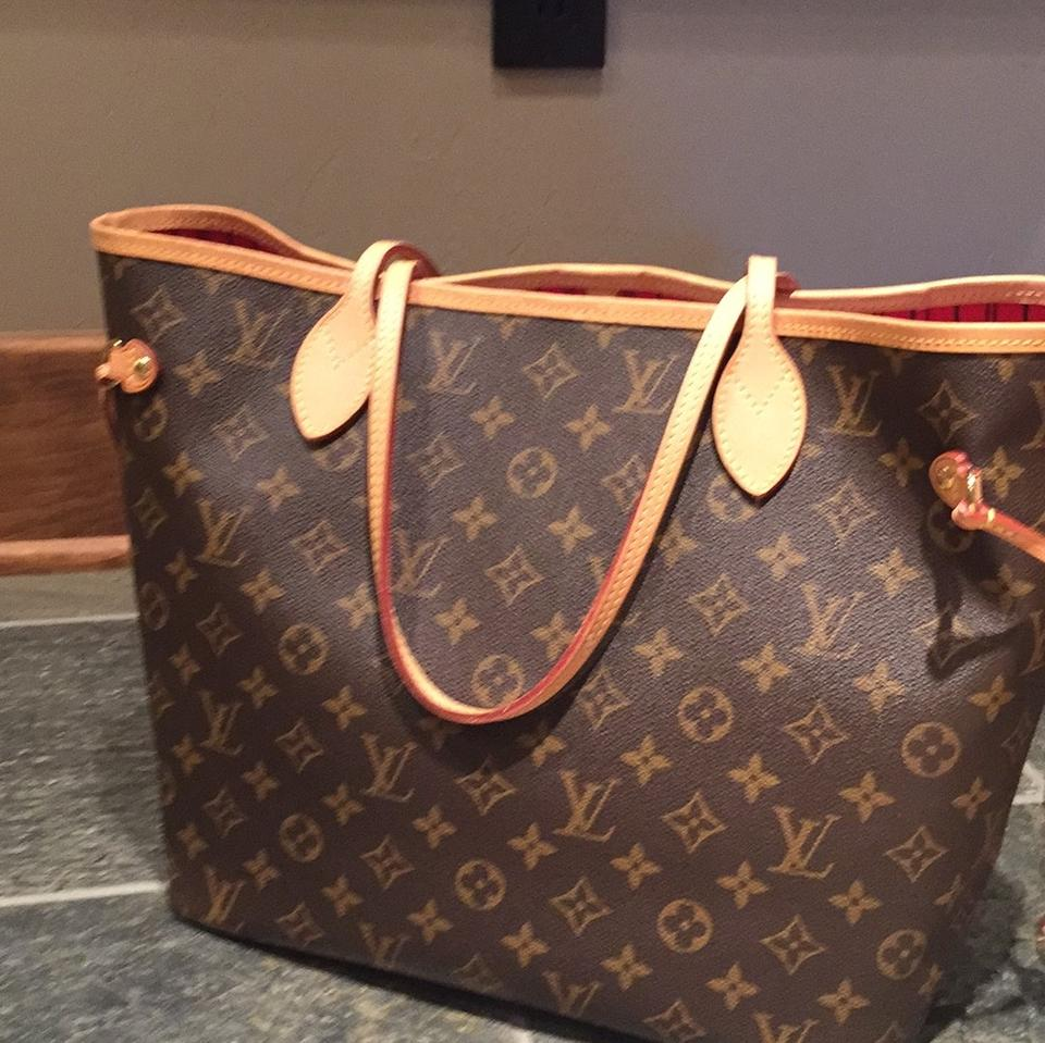 35172ec049bd Louis Vuitton Neverfull Mm with Cerise Lining and Pouch Monogram Canvas Tote