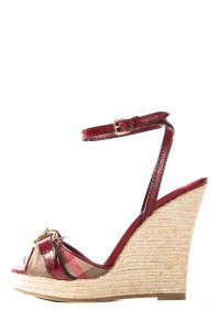 Burberry Red Wedges