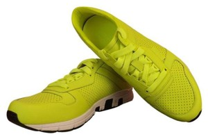 Gucci Yellow Ipanema Mens Neon Leather Lace Up 3690running Sneakers 13 Us 14 Shoes