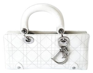 59bfa96c669e Dior Casual Leather Chic Satchel in Of White