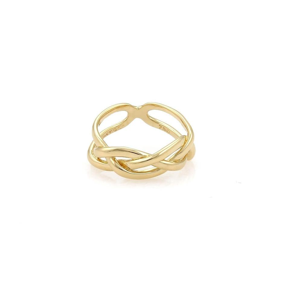66e9375b6 Tiffany & Co. Vintage 18k Yellow Gold Open Braided Band Ring Size 4.5 Image  0 ...