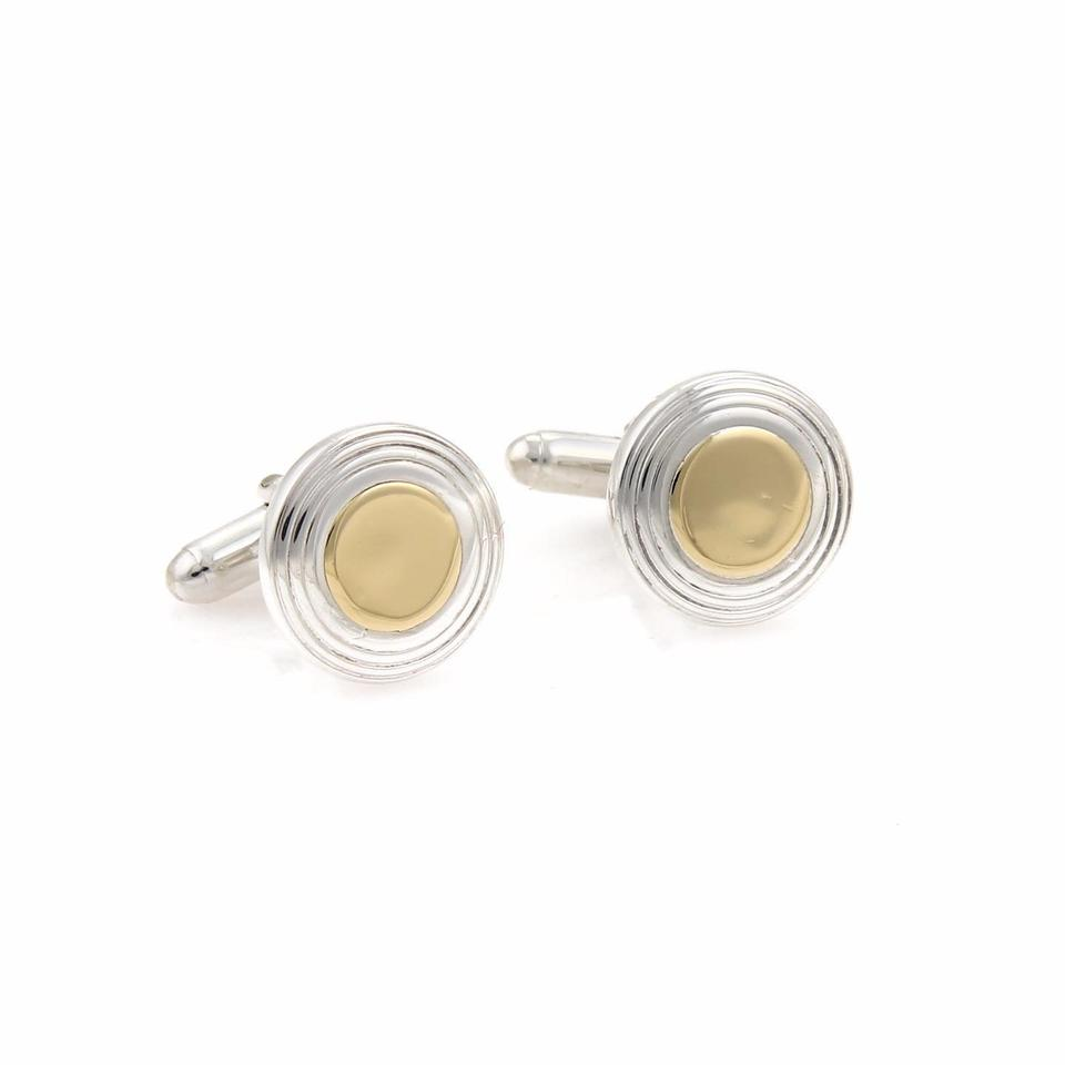 cufflinks silver sterling stud gold i co and round button yellow tiffany