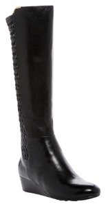 Cole Haan Leather Wedge black Boots
