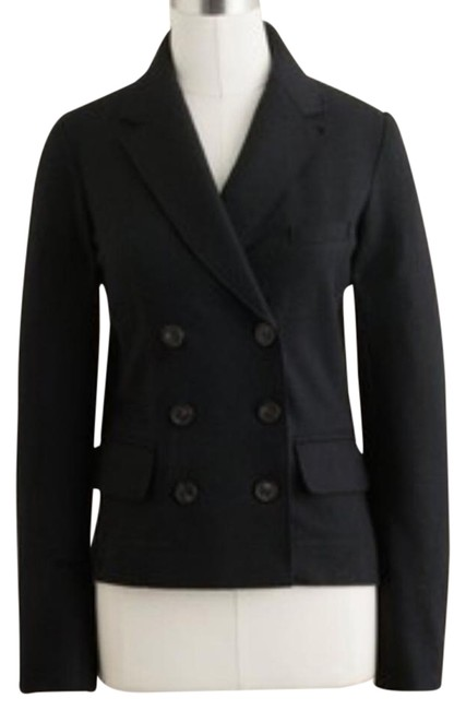 J.Crew Solid Black Double Breasted Blazer Size 0 (XS) J.Crew Solid Black Double Breasted Blazer Size 0 (XS) Image 1