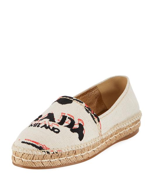 Item - Beige Logo Embroidered Canvas Espadrille Spain Flats Size EU 41.5 (Approx. US 11.5) Regular (M, B)