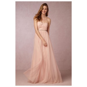 Jenny Yoo Cameo Pink Polyester Tulle Anabelle Formal Bridesmaid/Mob Dress Size 6 (S)