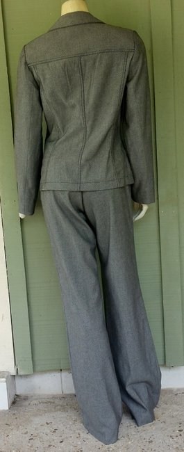 Etcetera ETCETERA Black White Ribbed Pantsuit Pants Suit 6/8